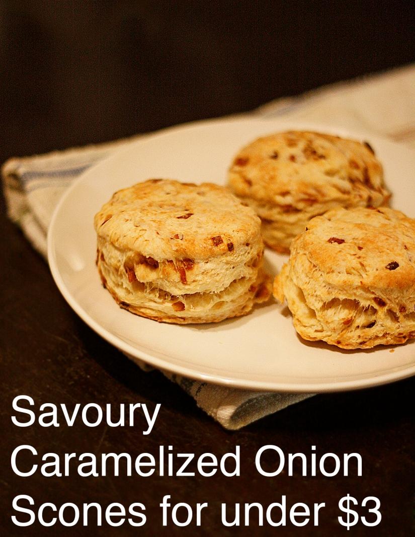 Savoury Caramelized OnionScones