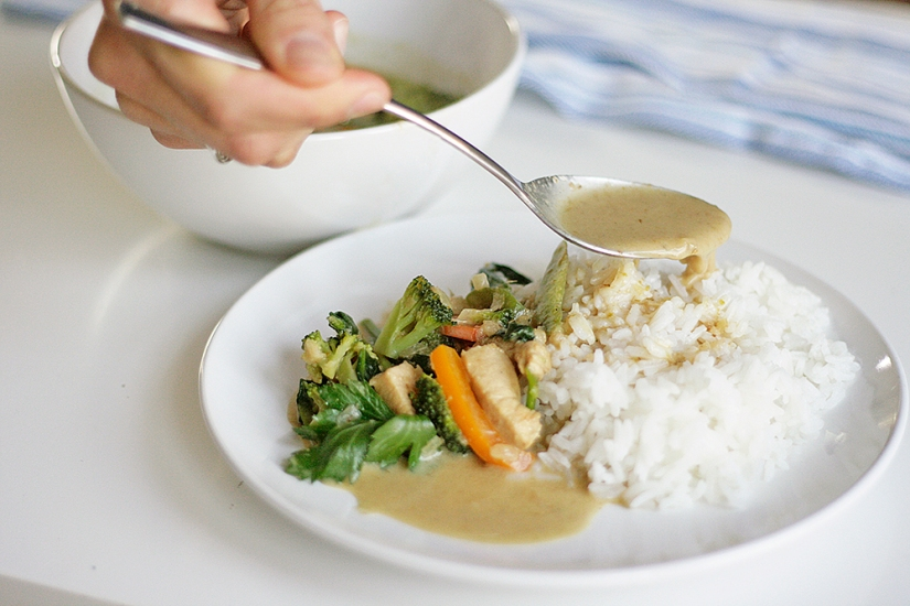 Simple Green Chicken Curry