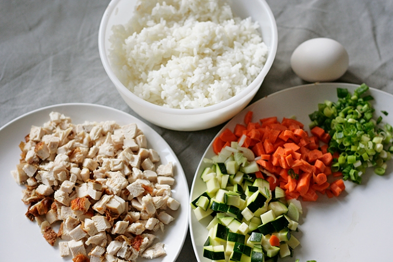 Basil-Fried-Rice-Ingredients